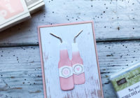 Let's Get Hopping Bubble Over Wood Textures His and Hers Cards Eimear Carvill www.stampincolour.com
