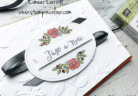 ots Of Lavender meets Layered Leaves Card and Gift bag for the Stampin' Creative Blog Hop